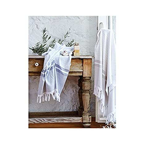 Serra casa grande toalla de playa Hotel & Spa isla Peshtamal azul suave algodón turco,