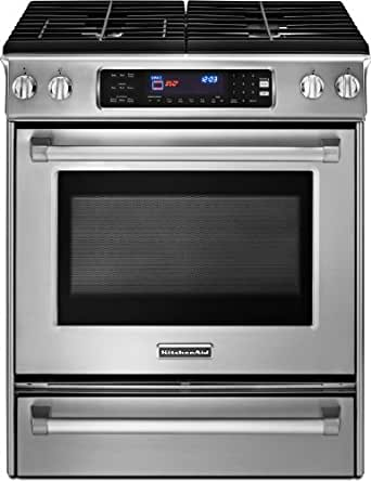 Kitchenaid KDSS907XSP 30-Inch, 4-Burner Pro Line Series Range with Even-Heat Convection