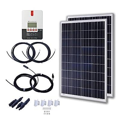 Komaes 200 Watts 12 Volts Monocrystalline Solar Starter Kit