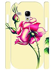 Classic Rose Pattern 3D Print Super Smooth Phone Aegis Case for Samsung Galaxy S3 Mini I8200 WANGJING JINDA
