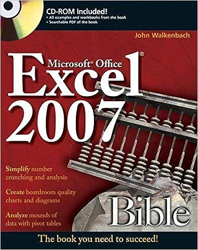 Amazon.com: Excel 2007 Bible (9780470044032): John Walkenbach: Books