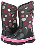 Bogs Kids' Classic High Waterproof Insulated Rubber Neoprene Rain Boot Snow, Sketched Dots Print/Dark Gray/Multi, 8 M US Toddler