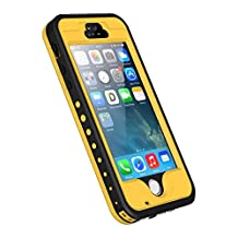iPhone 5s/SE/5 Case, iThrough Underwater, Waterproof Dust/Snow/Shock Proof Case with Touched Screen Protector, Heavy Duty Protective Carrying Cover with a 3.5mm AUX Cable for iPhone 5/5s/SE