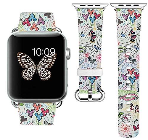 Replacement Band Strap Compatible with Apple Watch iWatch with adapters 42-44mm or 38-40mm iWatch Band Series 1 Series 2 Series 3 Series 4 Length S/M or M/L (42-44mm M/L)