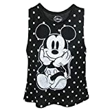 Disney Adult Solo Mickey Mouse Tank Top Black White