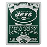 The Northwest Company Officially Licensed NFL New York Jets Marque Printed Fleece Throw Blanket, 50″ x 60″, Multi Color
