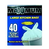 Maximum Large Kitchen Bags With Fast Tie Flaps (40 Bags) 422245