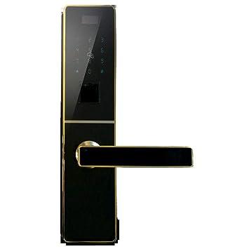 Lxj Huella Digital Cerradura Smart Lock hogar Puerta antirrobo Comercial Cerradura Zinc aleación Golpe Perno Cerradura Huella Digital: Amazon.es: Jardín