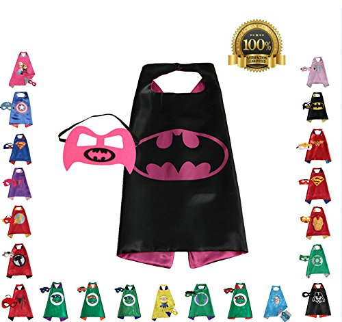 [Super hero Cape and Mask, Children, Boys, Girls Dress Up Costume] (Made Up Superhero Costumes Ideas)
