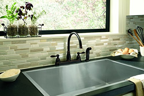 Delta Faucet Windemere 2-Handle Kitchen Sink Faucet with Side Sprayer in Matching Finish, Oil Rubbed Bronze 21996LF-OB