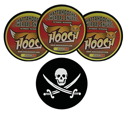 Roll Spitfire (Hooch Spitfire Rough Herbal Chew - 3 Can - Includes DC Skin Can Cover (Jolly Roger Skin))