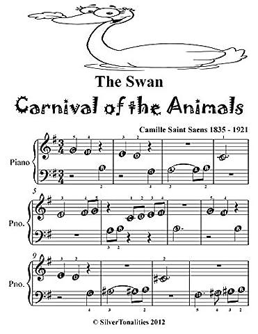 The Swan Carnival of the Animals Beginner Piano Sheet Music Tadpole Edition (Amazon Digital Sheet Music)