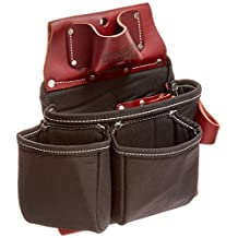 Occidental Leather B8018DB Oxy-Light 3 Pouch Tool Bag, Black