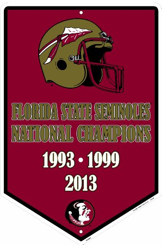 Florida State Seminoles National Champs Banner Sign 12 X 18