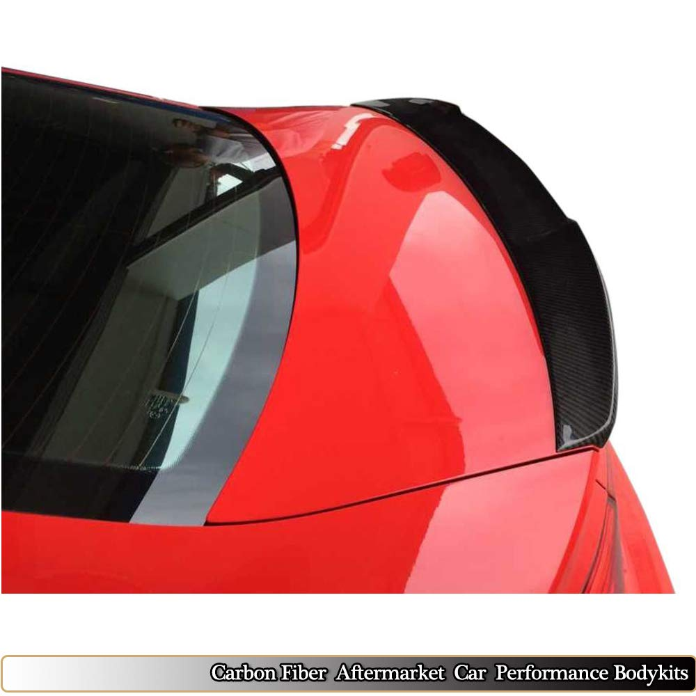 MCARCAR KIT Trunk Spoiler fits Audi A3 8V Base Sline S3 Sedan 2014-2018 Sedan Rear Boot Lid Highkick Spoiler Wing Lip Carbon Fiber CF