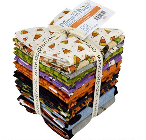 Pumpkin Party Flannel Fat Quarter Bundle by Bonnie Sullivan for Maywood Studio by Maywood Studio