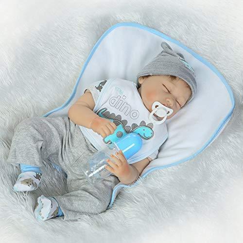 WEIHAOA 22 inch Close Eyes Eyes Eyes Baby Doll Full Body Soft Silicone Vinyl Baby Doll Handmade Adorable Realistic Toddler Newborn Baby Doll Toy 82c9ae