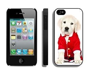 2014 New Style Christmas Dog iPhone 4 4S Case 39 Black