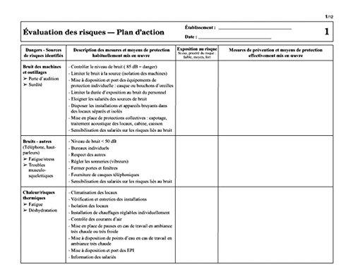 Document Unique D Evaluation Des Risques Amazon Fr Fournitures De