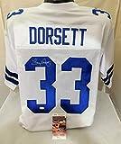 TONY DORSETT Signed/Autographed Dallas Cowboys Authentic Style Jersey JSA COA