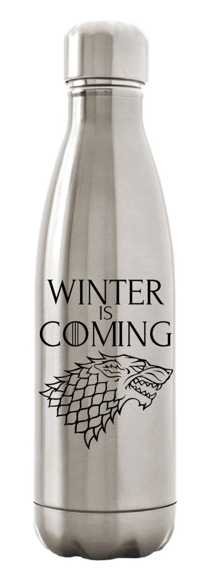 Custom Apparel R Us Stainless Steel Water Bottle Double Wall Insulated 17 oz Games of Throne Winter is Coming