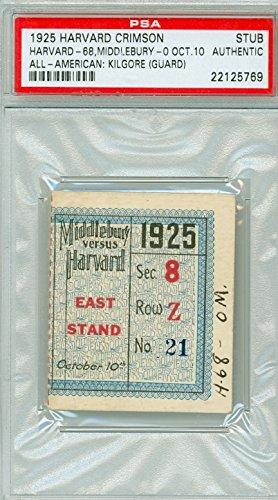 1925 harvard crimson ticket stub vs middlebury october 10 1925