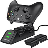 BEBONCOOL Xbox One Controller Dual Charger, Dual Xbox One / One S / One X / Xbox Elite Controller Charger Charging Station Dock with 2 x 800 mAh Rechargeable Battery Packs