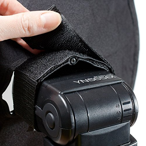 RoundFlash Beauty Dish Collapsible Softbox for Nikon, Canon, Sony, Pentax, Olympus, Panasonic Lumix, Neewer, Yongnuo External On-Camera Shoe-Mounted Flash Units by RoundFlash (Image #4)