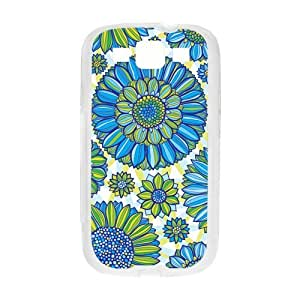 Custom Beautiful Flowers Pattern Case for SamSung Galaxy S3 I9300 (Laser Technology)