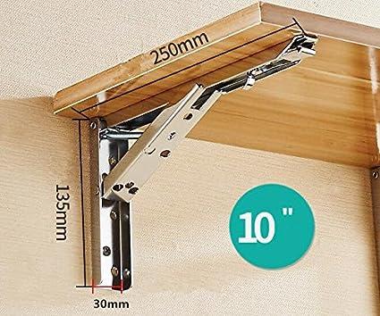 UUsave - 2 abrazaderas plegables de acero inoxidable para colgar en la pared con tornillos: Amazon.es: Bricolaje y herramientas