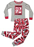 Best Red Gray Dino 1st After Christmas Special Sale Jammies Kids Little Toddler Boy Pajamas Set Snug Fit Small Cute Cozy Cotton Comfy Winter PJ Gift Idea for Kids Youth (Dinosaur, 4T)