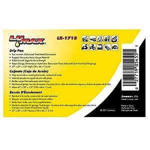 "Lumax LX-1715 Silver 47"" x 25"" x 1/2"" Galvanized Drip Pan"