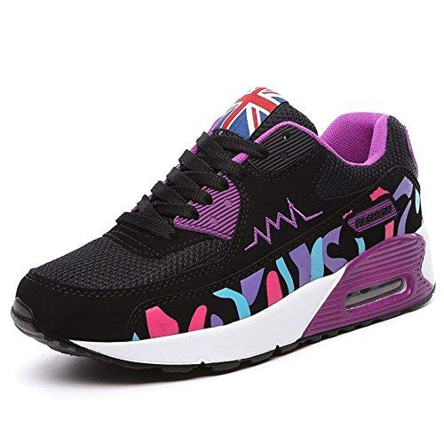 [No.66 Town] 女性のエアカジュアルウォーキングランニングシューズファッションスニーカーWomen`s Air Casual Walking Running Shoes (並行輸入品)
