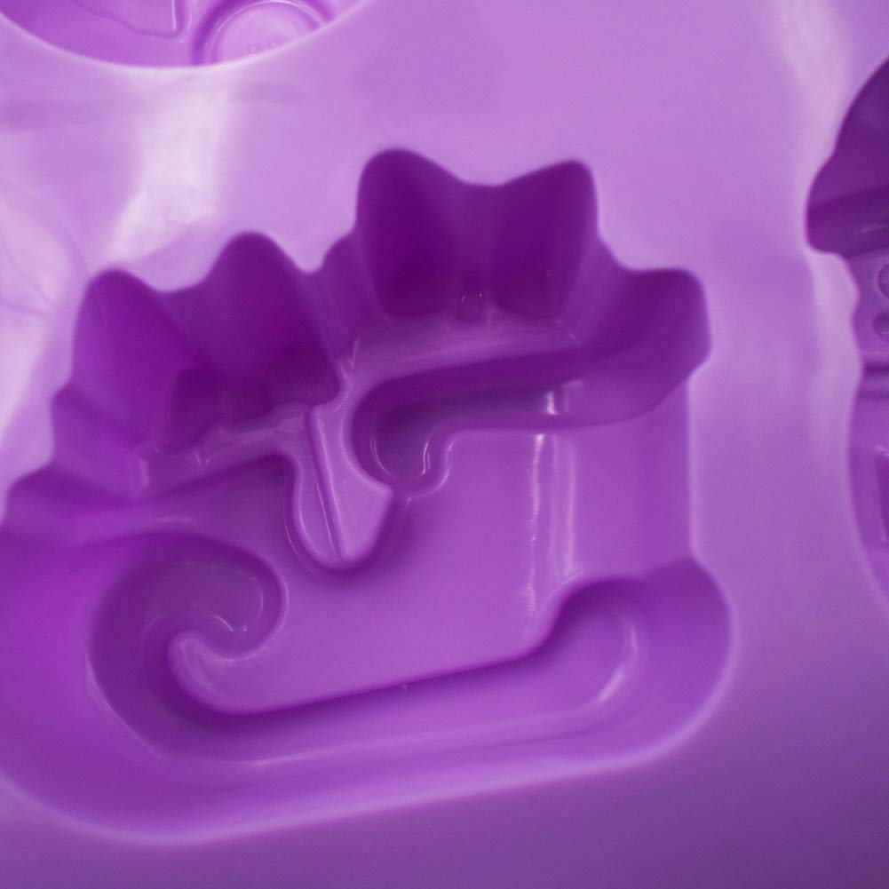 Verde INTVN 3 Unidades de moldes de Silicona para Navidad Morado de Reno bandejas de jab/ón para Chocolate moldes para Hornear Tartas 6 cavidades con Forma de mu/ñeco de Nieve Azul