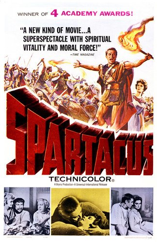 Kirk Douglas and Jean Simmons and Laurence Olivier and Tony Curtis and Charles Laughton in Spartacus 24x36 Poster Silverscreen