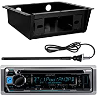 Kenwood Marine Boat Bluetooth Stereo Receiver With or Without CD player, Metra Dash Kit, Enrock 45 Flexible Radio Antenna