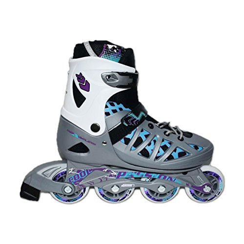 Ailunhua Adult Inline Skates Rollerblades for Men/Women Large Size 7 8 9 10 Speed Adjustable Roller Skates Silver