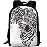 ZQBAAD The Map Of Africa Is A Zebra Luxury Print Men And Women's Travel Knapsack