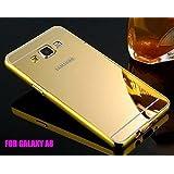 KPH Luxury Mirror Effect Acrylic back + Metal Bumper Case Cover for Samsung Galaxy E7 GOLD