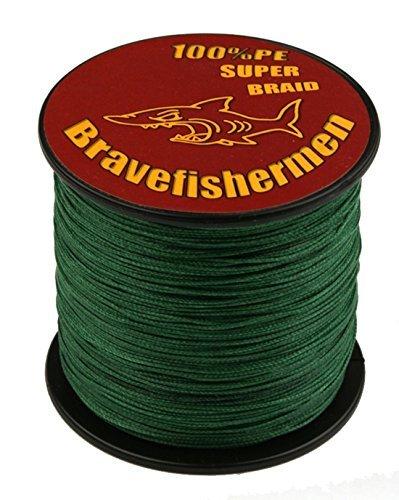 Dark Green super strong PE braided fishing line (100M, 100LB)