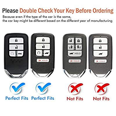 COMPONALL for Honda Key Fob Cover, Key Fob Case for Honda Accord Civic CRV Pilot Odyssey Passport Smart Premium Soft TPU Full Cover Protection Smart Remote Keyless Key Fob Shell, Red: Automotive