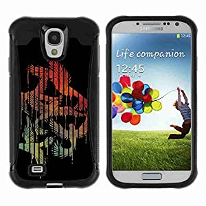 A-type Arte & diseño Anti-Slip Shockproof TPU Fundas Cover Cubre Case para Samsung Galaxy S4 IV (I9500 / I9505 / I9505G) / SGH-i337 ( Birds In A Cage Illustration )