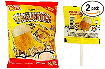 Authentic Sabores- Vero Tarrito Hardcandy Lollipop Acidulated Pineapples and Lemon Flavor 40 pieces and Coronado