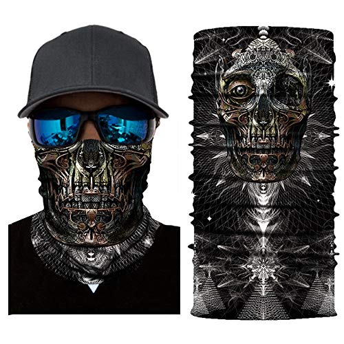Palalibin 3D Printed Cycling Face Mask Motorcycle Head Scarf Neck Warmer Ski Balaclava Headband 24CM X 49CM (D, Free)