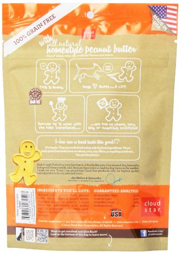 Buddy Biscuits Grain Free Soft & Chewy Healthy Dog Treats with Peanut Butter - 5 oz.