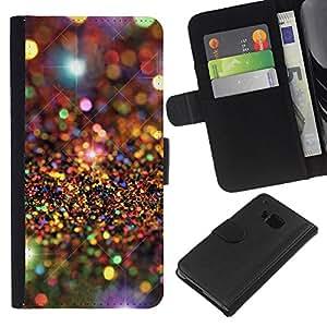 Universo Modelo de estrellas de lujo- la tarjeta de Crédito Slots PU Funda de cuero Monedero caso cubierta de piel Para HTC One M7