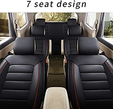 Deluxe Polyester Texas Black /& Grey 7 Seater Car MPV Seat Covers Set 13 Piece