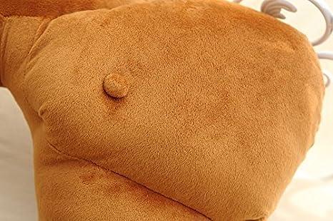 Brown Regenboghorn Boyfriend-Kissen Freund-Kissen Muskel-Arm-Mann Hug K/örper warm Brown Bett schlafen Kissen Kuschelkissen Seitenschl/äferkissen Schlafkissen