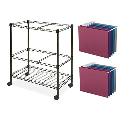 3 Piece Replacement Pick - Lorell 2 Tier Mobile Wire File Cart With 25-Piece Letter-Size Hanging Folders