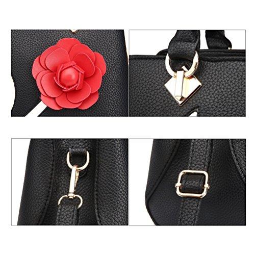 Hombro Elegantes Auspicious Mujeres La Caqui 3d Las Bolsos Beginning Roja Flor De Con t6aaqwSp